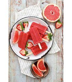 Des bâtonnets glacés à la fraise et au pamplemousse glace pinterest recette