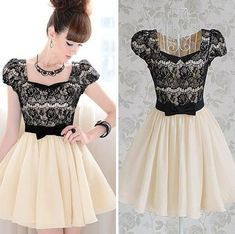 Diamond Bow Lace Dress BADG from Eternal