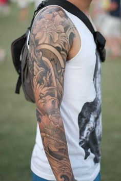 60 Best Arm Tattoos – Meanings, Ideas and Designs for 2019 Arm tattoo meanings, designs and ideas with great images for Learn about the story of arm tats and symbolism. Tattoos Arm Mann, Arm Sleeve Tattoos, Tattoos Skull, Japanese Sleeve Tattoos, Full Sleeve Tattoos, Tattoo Sleeve Designs, Arm Tattoos For Guys, Tattoo Designs Men, Arm Tats
