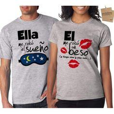 30 mejores imágenes de camisetas parejas  0509ca963d22c