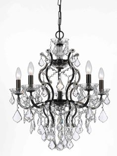 Crystorama 4455-VZ-CL-SAQ Filmore Vibrant Bronze 6 Light Chandelier On Sale Now. Guaranteed Low Prices. Call Today (877)-237-9098.