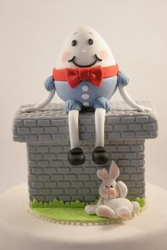 Cake Art! ~ Humpty  Dumpty Cake  ~ all hand molded and all edible