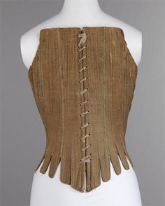 American Corset back view first quarter of 18th Century