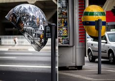 Arty telephone booths in Brazil. How cool are these?