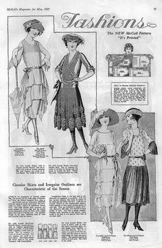 May 1921 Fashions from McCall's Magazine
