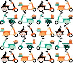 Scooters  fabric by natitys on Spoonflower - custom fabric