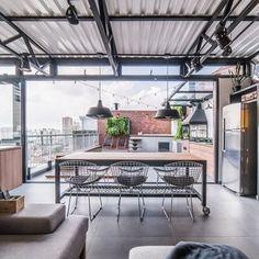Casa Loft, Loft House, Industrial Interior Design, Industrial Loft, Traditional Exterior, Traditional House, General Construction, Home Studio, Office Interiors