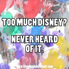 too much Disney?