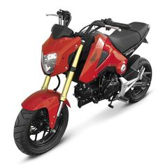Give your bike the street fighter look - Hotbodies Racing Red Front Fairing for Honda Grom MSX125.  https://www.blackoakmotorcycle.com/collections/honda/products/hotbodies-racing-41401-1400-red-front-fairing-for-honda-grom-msx125  #hotbodies #hotbodiesracing #honda #grom #grommsx125 #msx125 #blackoakmotorcycle #rootedintheride