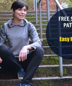 Free Sewing Pattern:  Easy Hoodie:  Get access to a free sewing pattern with pattern included in sizes 4 to 22 and an easy, step by step sewing tutorial