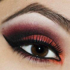 Smokey red #eyeshadow