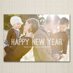 Etsy の Photo New Year Card printable  outlined. by westwillow