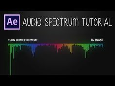 After Effects: Audio Spectrum Tutorial - YouTube