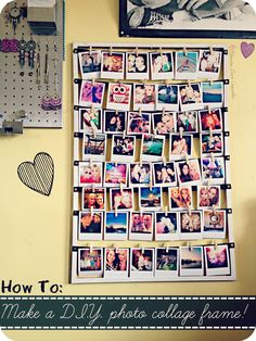 How To … Make A D.I.Y. Photo Collage Frame!!