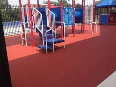 No Fault Sport Group teamed up with Hercules Fence in Washington, DC to provide this beautiful red rubber playground surfacing at Anacostia High School.  Looks like another job well done!