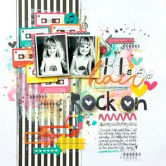 Illustrated Faith Bright & Brave Collection | 80's Hair Layout by Missy Whidden