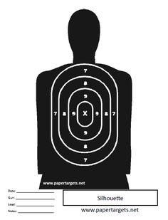 Miscellaneous Shooting Targets Silhouette with Points
