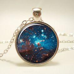 Galaxy Necklace Heavenly Nebula Pendant Stars And by rainnua, $14.45