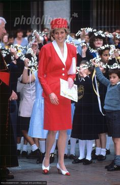 """May 12 1989 Diana attends the """"Festival of Flowers"""" with Music at Westminster Cathedral in London in aid of the Cardinal Hume Center"""