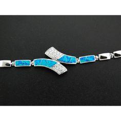 Blue Opal Silver Bracelet