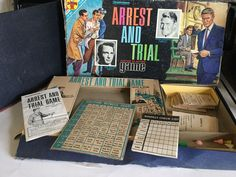 Vintage 1963 Transogram Arrest And Trial Justice in Action Board Game  #Transogram