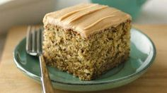 Banana-Nut Cake with Peanut Butter Frosting recipe from Betty Crocker