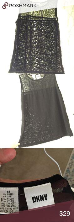 Mesh DKNY transparent sleeveless top Mesh DKNY transparent sleeveless top Dkny Tops Tank Tops