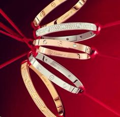 Cartier bracelets. Love this collection