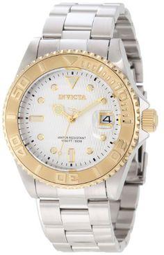 Invicta Men`s 12836 Pro Diver Automatic Silver Dial Watch $84.99
