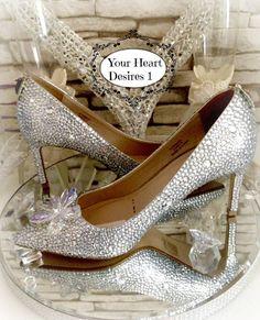 4f75e2b9501 Cinderella Swarovski crystal diamante wedding by yourheartdesires1 Prom  Heels