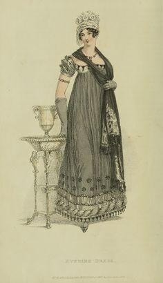 Mourning for Princess Charlotte 1818 Ackermann