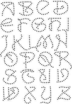 Art nouveau alfabet