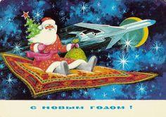 Кусочек нашего детства - советские новогодние открытки » Женский Мир
