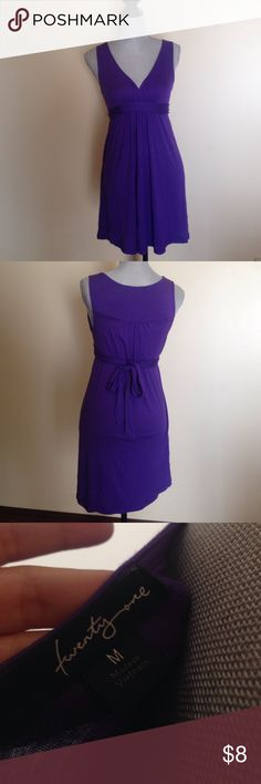 Forever 21 Purple V-Neck Dress Only worn once and in excellent condition. Forever 21 Dresses Mini