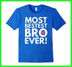 Mens Bestest Bro Shirt - Best Little, Middle or Big Brother Shirt 2XL Royal Blue - Relatives and family shirts (*Amazon Partner-Link)