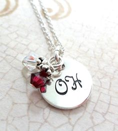 Ohio State Necklace Sterling Silver (Free Shipping)