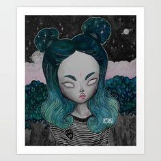 IGGY+★+STARDUST+Art+Print+by+LOll3+-+$22.88