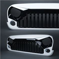Gladiator Vader Front Painted Black White Grille for 2007-2017 Jeep Wrangler