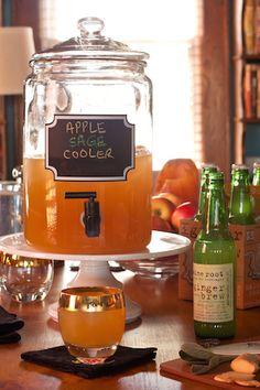pitcher drinks | party drinks | sage | ginger beer | apple cider