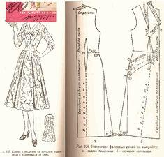 Free Vintage Dress Sewing Draft Pattern