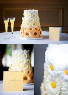 Sunflower wedding cake by @JMohapiBanks