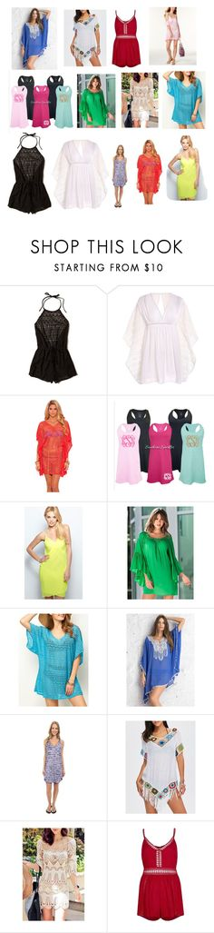 """cover ups"" by bwilliamson102976 ❤ liked on Polyvore featuring Hollister Co., Venus, Speedo, WithChic, River Island and Miken"