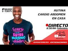 RUTINA DE CARDIO ABDOMINALES EN CASA - YouTube Canal E, Youtube, Mens Tops, T Shirt, At Home Abs, Training, Exercises, Tee, Youtubers