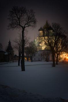 Inside Pskov Kremlin - by Andrey Revyakin