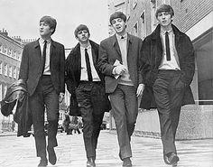 skinny ties are king. the beatles