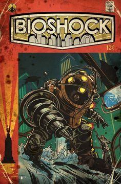 Bioshock Vintage Comic Covers - Created by Emilio Lopez