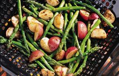 grilled red potatoes & asparagus