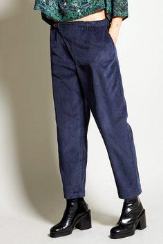 Boessert Schorn Pyjama Trousers in Navy Corduroy