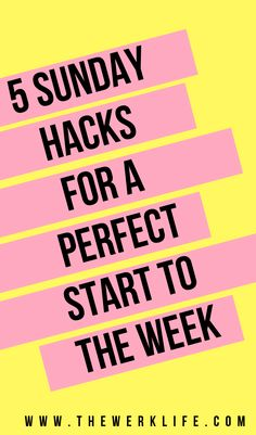 How to have a perfect start to the week: make the most out of your Sunday's! These helpful productivity tips and life hacks will have you all set! Life Advice, Career Advice, How To Find Out, How To Become, Thing 1, Productivity Hacks, Self Care Routine, Best Blogs, Time Management