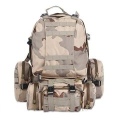 Multifunction Tactical Water Resistant Camouflage Backpack